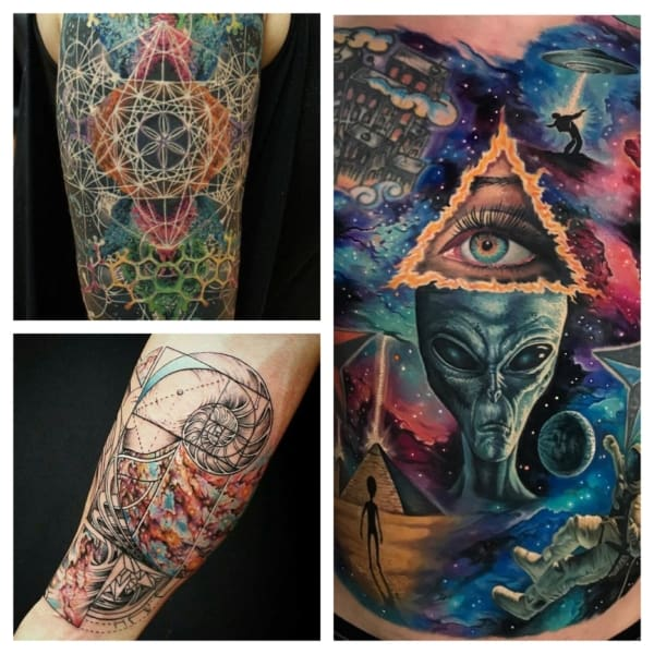 ideias de tatuagem psicodélica