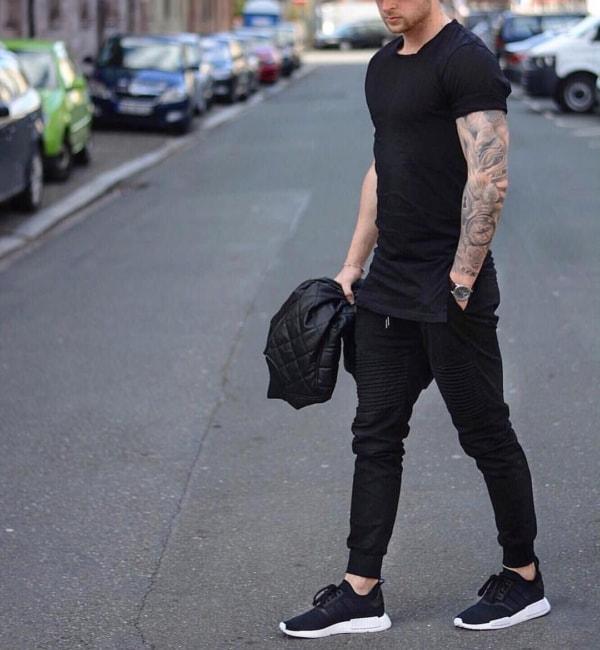 look com adidas preto