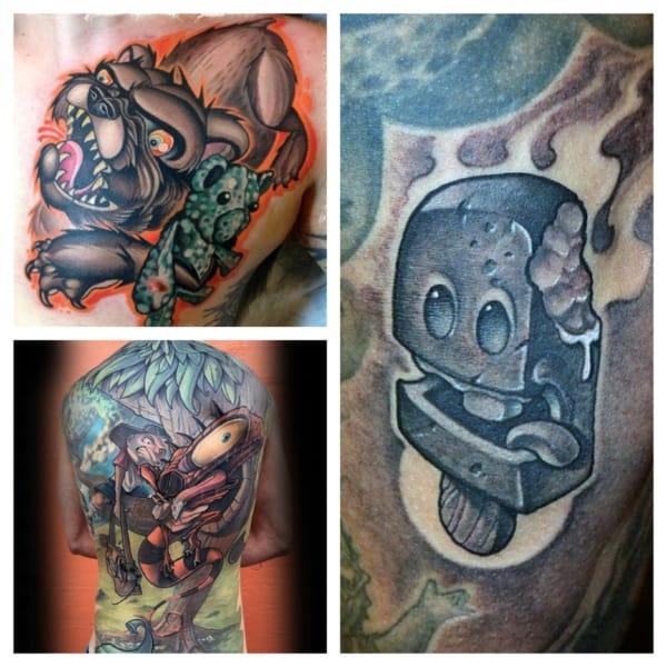 modelos de tatuagem new school