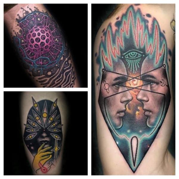 modelos de tatuagem psicodélica