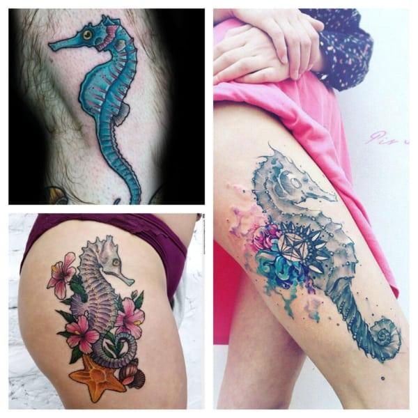 Tatuagem cavalo-marinho【2020】» +45 ideias e tattoos LINDAS!