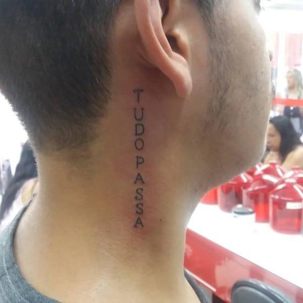 tatuagem Tudo Passa pequena 1