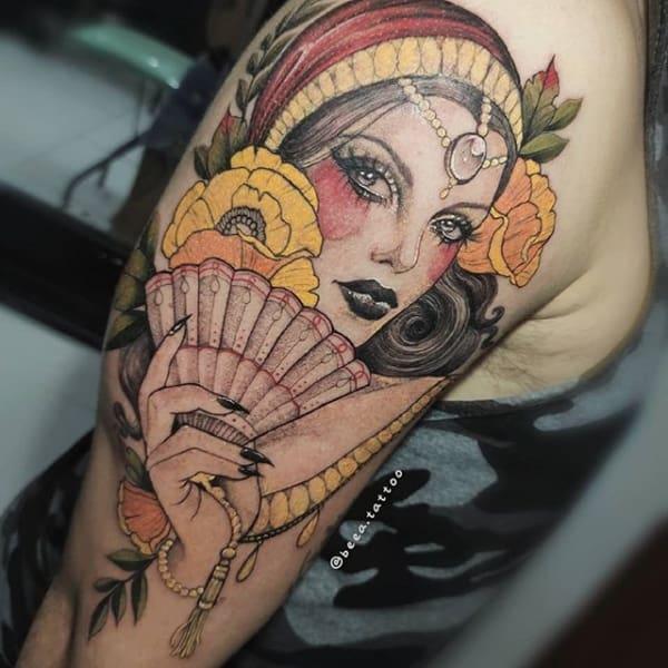 tatuagem cigana colorida