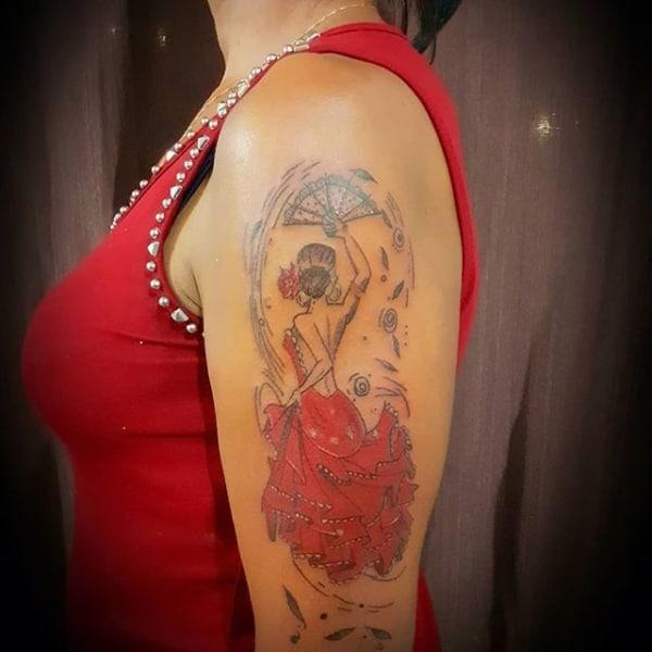 tatuagem cigana dançando