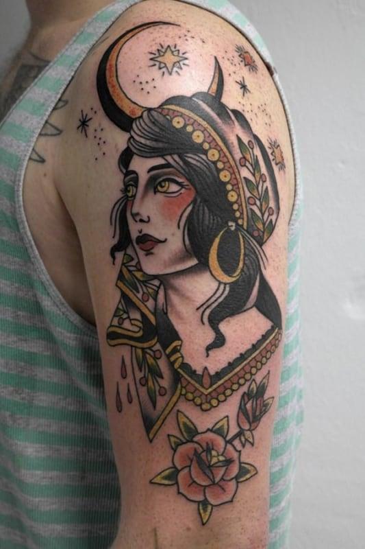 tatuagem cigana old school