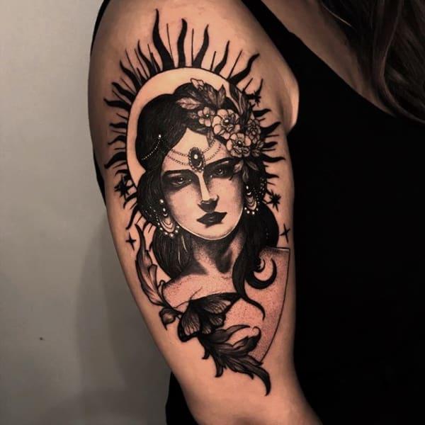 tatuagem cigana realista ideias