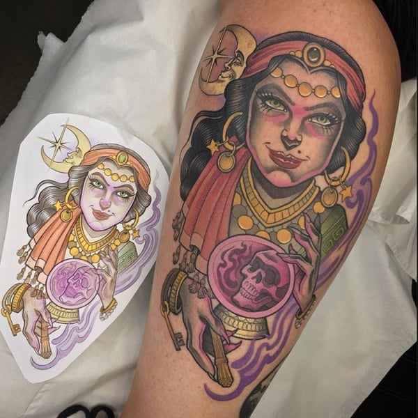 tatuagem cigana realista