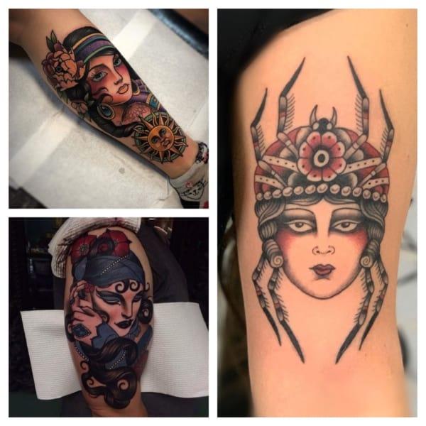 tatuagem de cigana colorida
