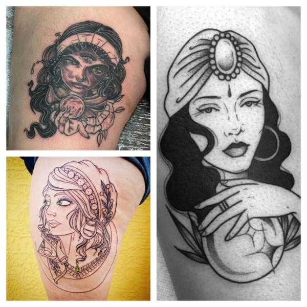 tatuagem de cigana