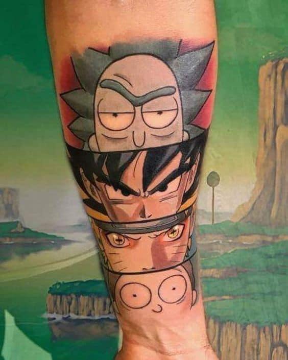 tatuagem geek animes