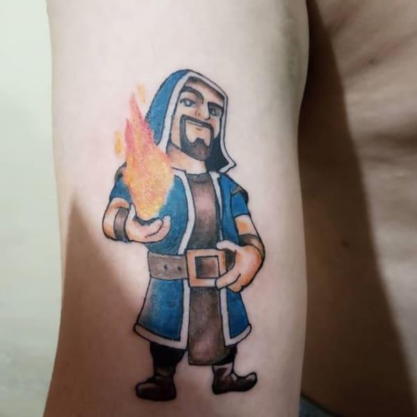 tatuagem geek clash royale