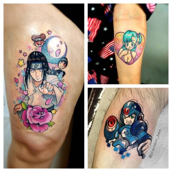 tatuagem geek colorida