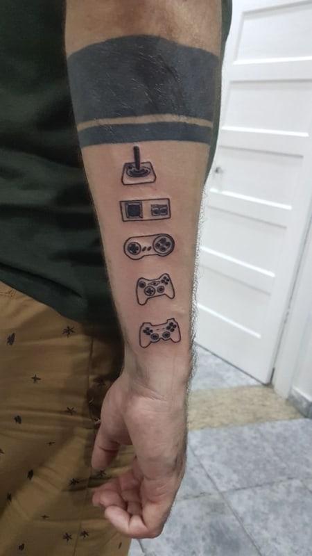 tatuagem geek consoles