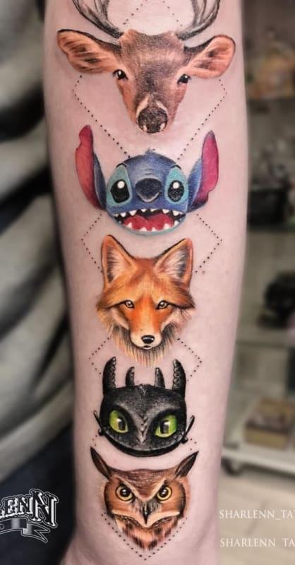 tatuagem geek desenhos