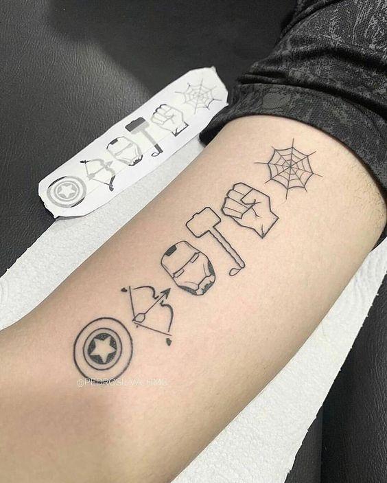 tatuagem geek herois