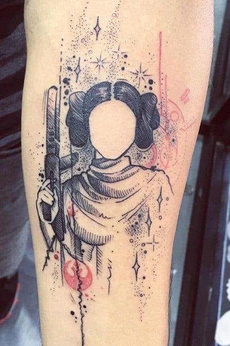 tatuagem geek star wars