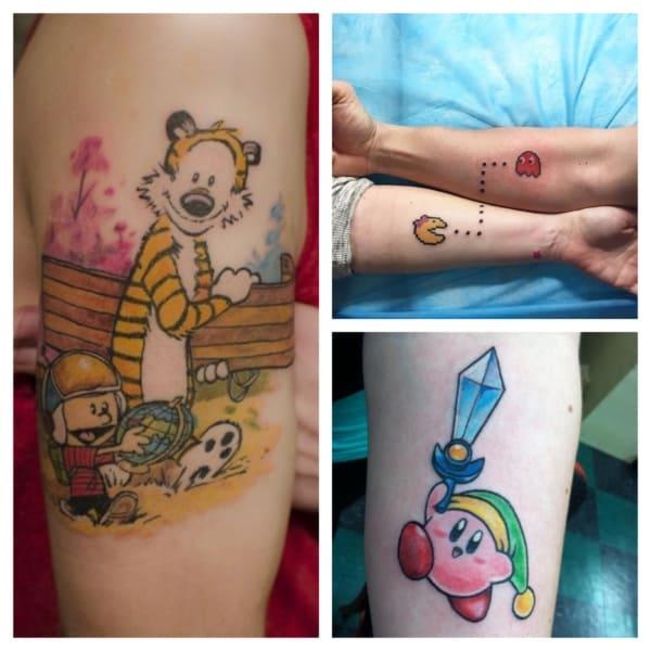 +55【TATUAGENS GEEK】ᐅ Tattoos de filmes, séries e desenhos!