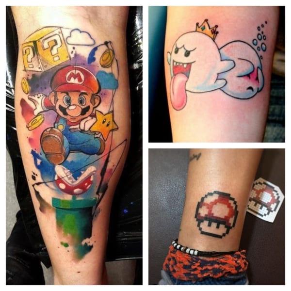 tatuagem mario bros