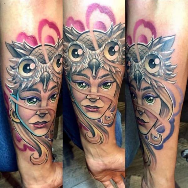 tatuagem new school grande no braço