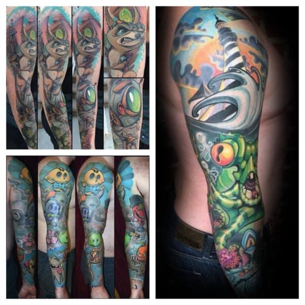tatuagem new school no braço 1
