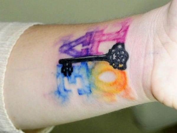 tatuagem new school pequena