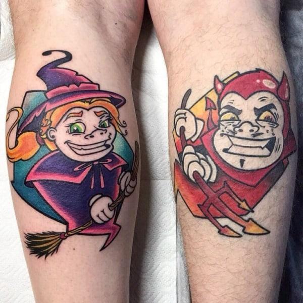 tatuagem new school perna 1