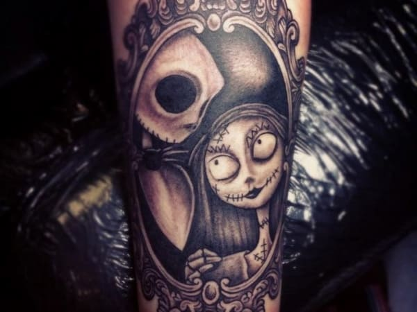 tatuagem new school preta