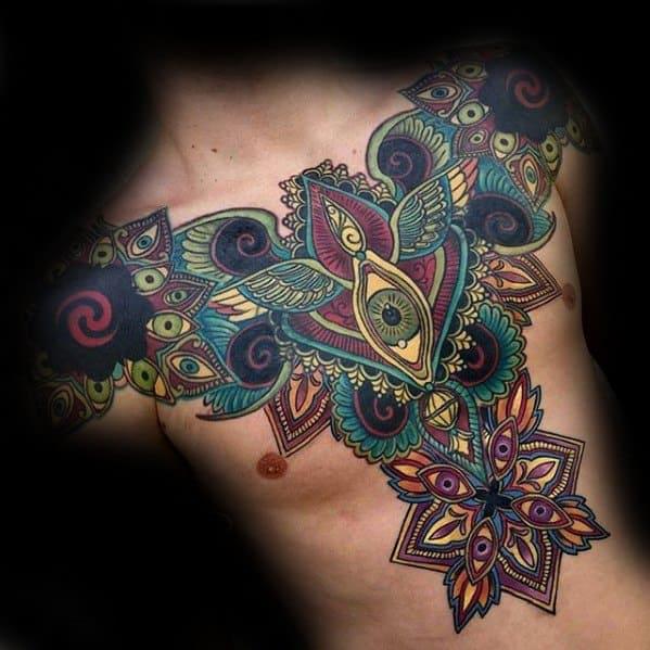 tatuagem psicodélica grande