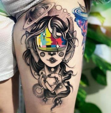 tatuagem psicodélica linda