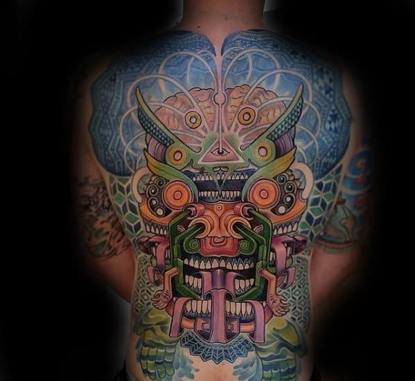 tatuagem psicodélica nas costas como fazer