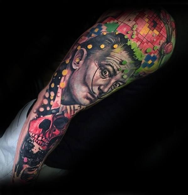 tatuagem psicodélica sleeve