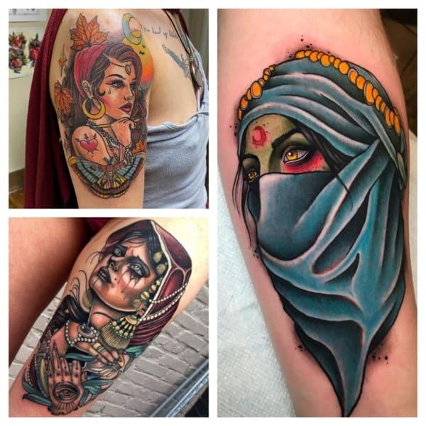 tatuagens de cigana