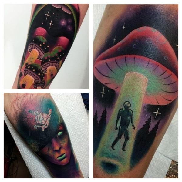 tatuagens psicodélicas