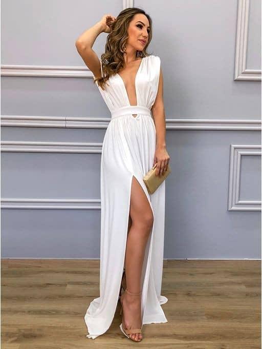 vestido branco para formatura 69