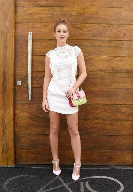 vestido branco para formatura 70