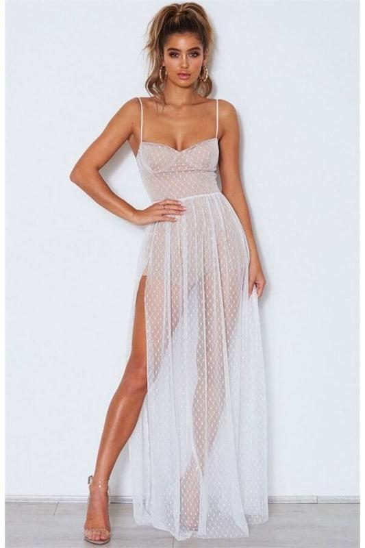 vestido branco simples 60