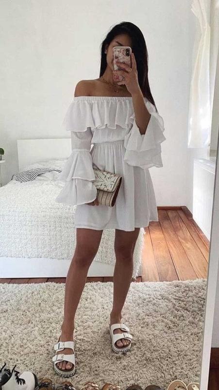 vestido ombro a ombro branco 47