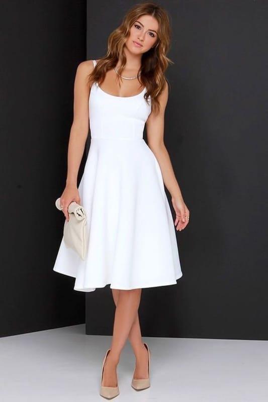 vestido rodado branco 30