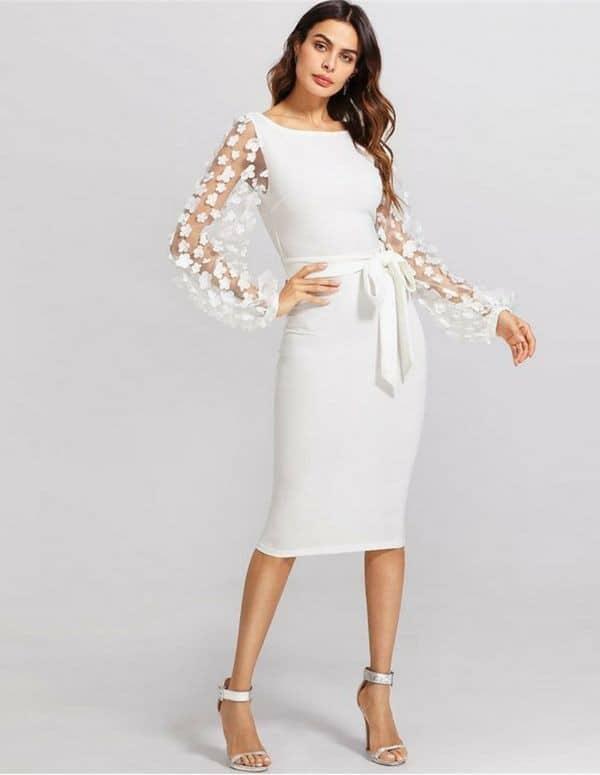 vestido tubinho branco 33