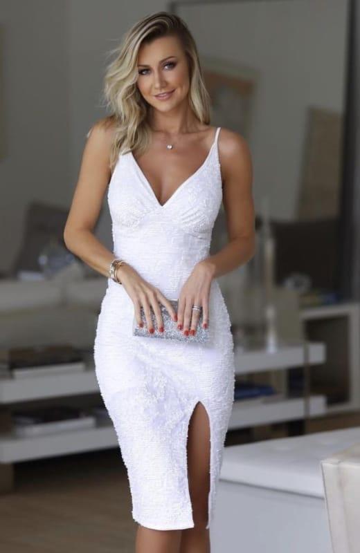 vestido tubinho branco 35