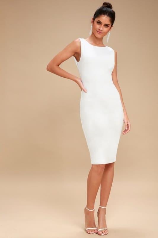vestido tubinho branco 36