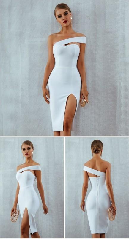 vestido tubinho branco 37
