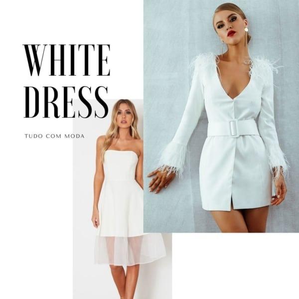 Vestido branco: +70 modelos e looks LINDOS | Onde comprar?