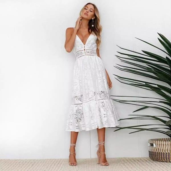 white dress midi 12