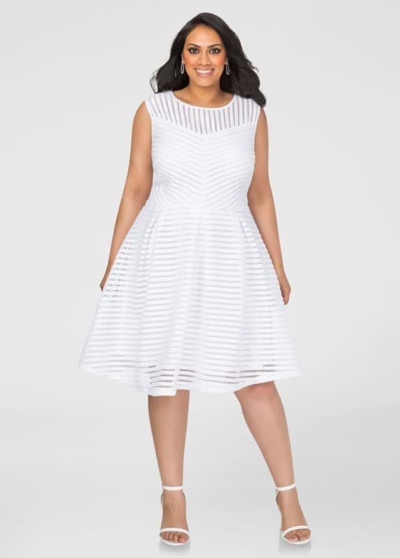 white dress plus size 50