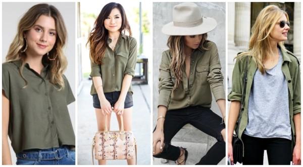 looks com camisa verde militar