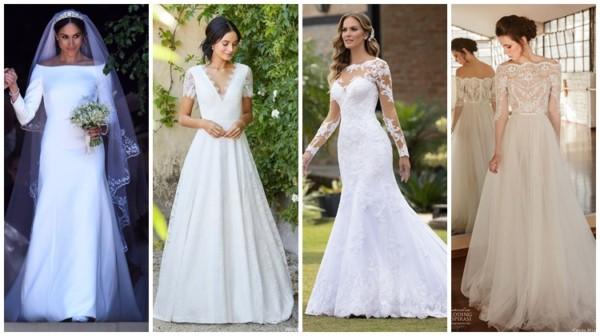 Vestido de noiva com manga – 48 modelos incríveis e modernos!
