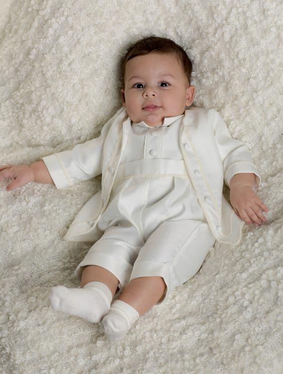 look branco para batizado de bebê menino
