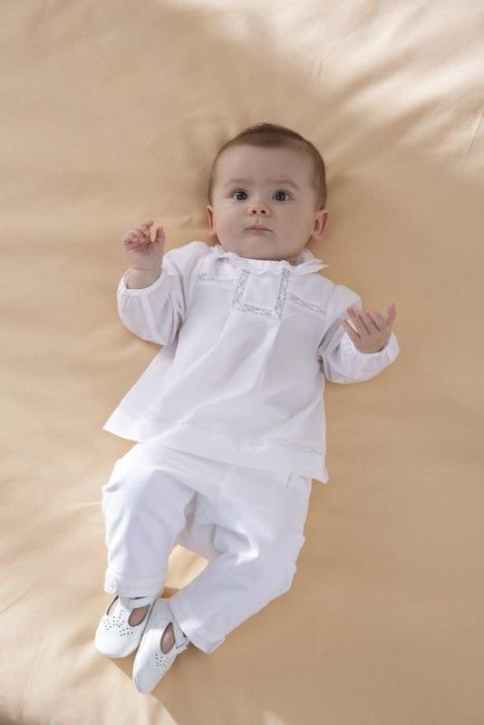 look branco para batizado de bebê