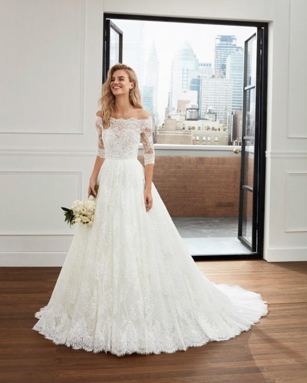 vestido de noiva princesa com manga em renda